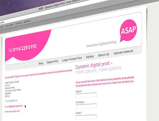 efficient search engine optimisation design for the asap digital website