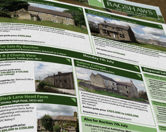 Bagshaws estate agent, newspaper adverts