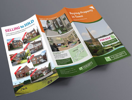 Bagshaws estate agent, leaflets, printed media