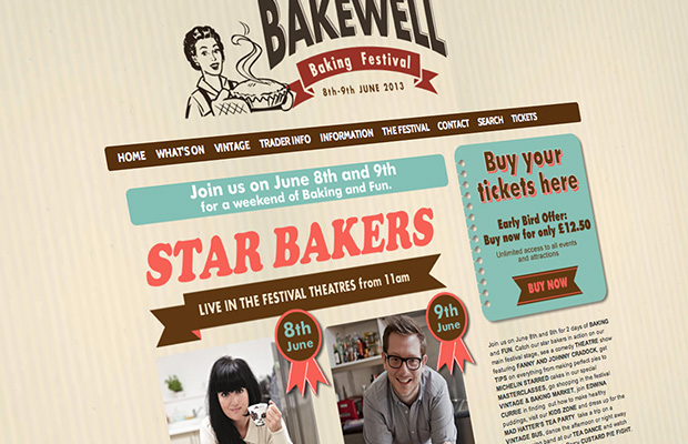 bakewell baking festival web design sheffield and bakewell