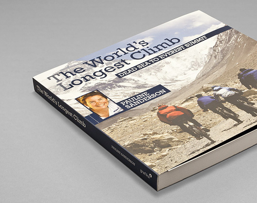 front cover of the worlds longest climb book designed and published by grafika