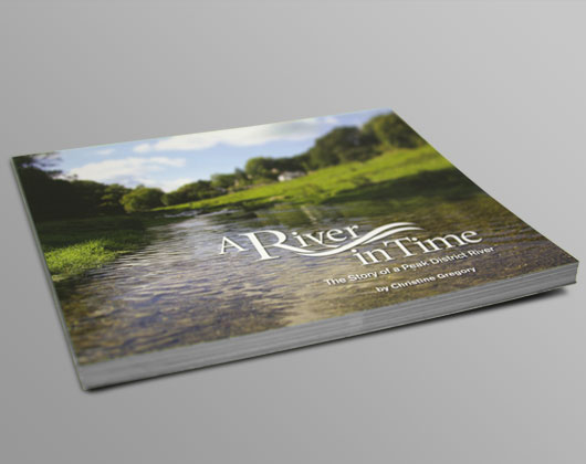 front cover of a river in time book designed and published by grafika