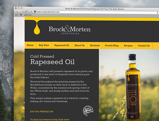 brock and morten cold pressed rapeseed oil, website, web design, cms, content managment, ecommerce, shop, online store