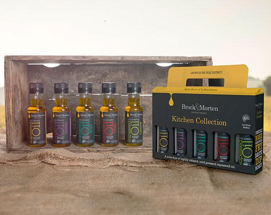 brock and morten cold pressed rapeseed oil, packaging, bottles, design