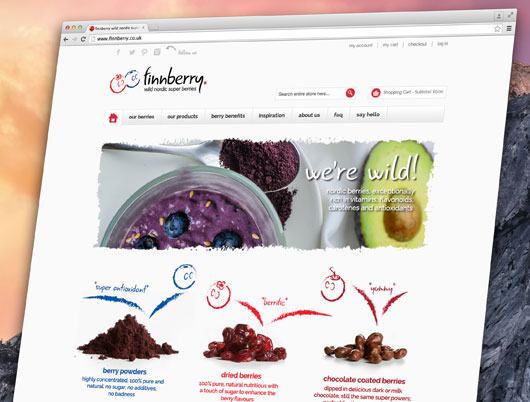 finnberry, nordic super berries, responsive website, content management, website, web design, web development, programming, derbyshire, sheffield, chesterfield, manchester, derby