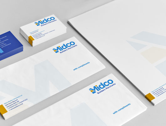 midco building merchants, bakewell, derbyshire, branding and logo design