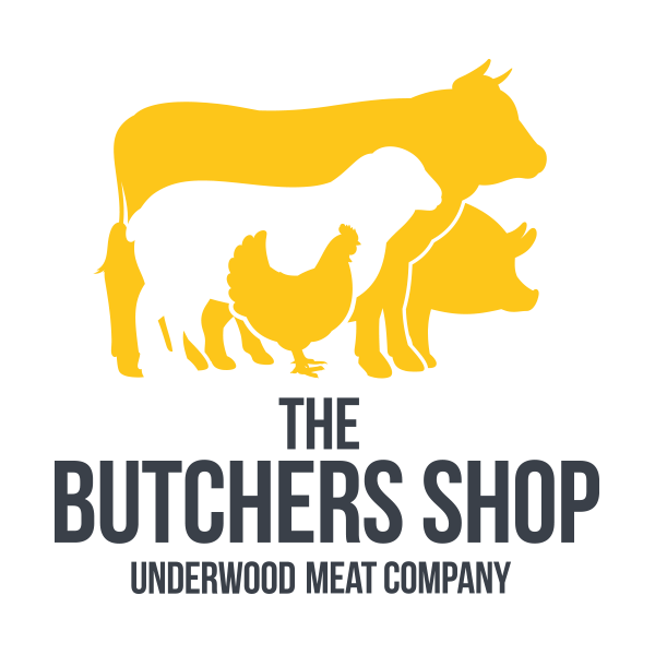 Underwoods Meat co, company, butchers, branding logo, graphic design
