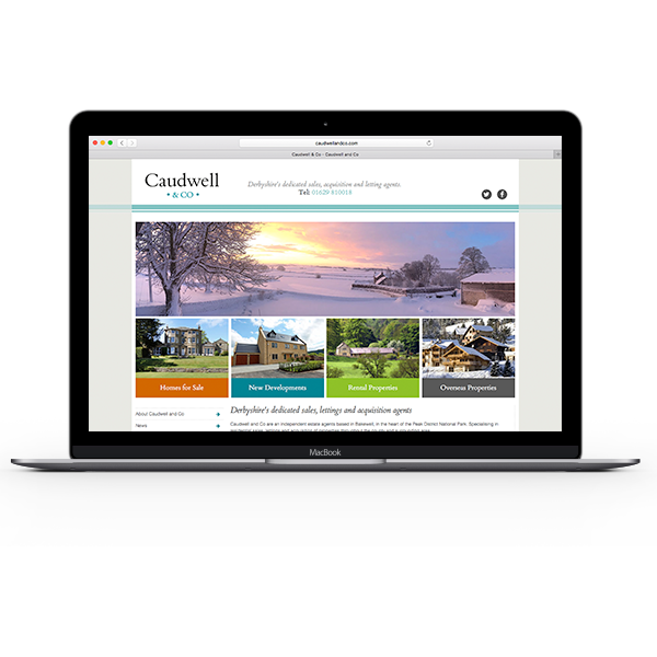 caudwell and co, property, estate agent, bakewell, Web Design, website, development, programming, responsive, mobile, device, derbyshire, sheffield