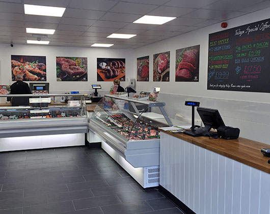 display graphics, vinyl, large format, banner, bakewell, derbyshire, underwoods, butchers, sheffield